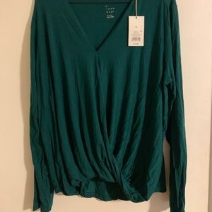 NWT Layered Long Sleeve Blouse